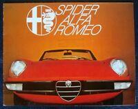 ALFA ROMEO SPIDER 1300/1600/2000 BROCHURE 1977 GERMAN.