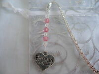 friend heart tibetan silver handmade bead bookmark birthday gift wedding favour