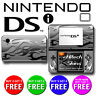 USA MADE Skin (Graphic Decal) to fit - NES Nintendo DSi  - SILVER FLAMES 2