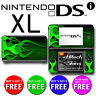 USA MADE Skin (Graphic Decal) to fit - Nintendo DSi XL - GREEN FLAMES