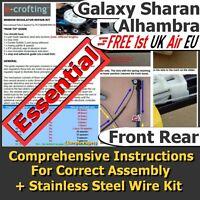 Front, Rear Window Regulator Repair Kit. Electric Motor, Manual Cable Mechanism.