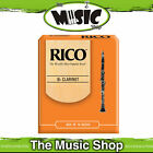 Rico 2 1/2 Strength Bb Clarinet Reeds - Box of 10 - New The Music Shop - Reed