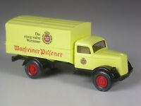 selten: Wiking Werbemodell Opel Blitz 1939 Warsteiner Bier