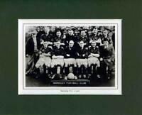 MOUNTED FOOTBALL TEAM PRINT - BARNSLEY - 1936