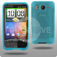 BLUE HYDRO GEL CASE SKIN COVER FOR HTC DESIRE HD UK