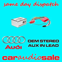 AUDI A2 A3 A4 A6 A8 TT AUX IN LEAD AUXILIARY INPUT ADAPTER LEAD CTVADX001