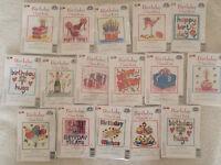 DMC Birthday Mini Cross Stitch Kit - Choice of Designs