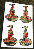 RALEIGH Vintage style Cycle Bike GOLD Decals Stickers x4