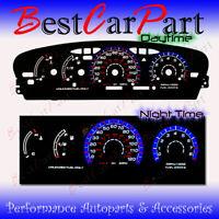 BLACK 95-99 Dodge Neon MT w/Tach INDIGLO GLOW BLUE/WHITE EL REVERSE GAUGES