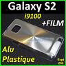 Etui Housse Coque Arrière Rigide Aluminium Argent Samsung Galaxy S2 I9100 +Film