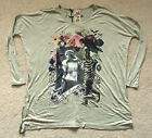 NEW LADIES GREEN OVERSIZED LONG SLEEVE TOP BY ROCK & REVIVAL SIZE 8/10