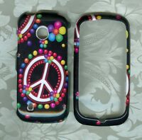 black peace dot LG Attune MN270 U.S. Cellular phone cover hard case