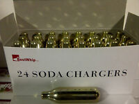 24 CO2 8g soda chargers 8 gram C02 seltzer cartridge sparklets carbonated 24pk