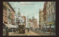 Lancs LIVERPOOL Church Street 1910 PPC tram #260