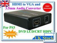 1080P HDMI to VGA Video 3.5mm Audio Converter For PS3 Sky HD Xbox360 Apple TV
