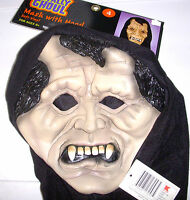 Vampire Hooded Monster Mask Adult NWT