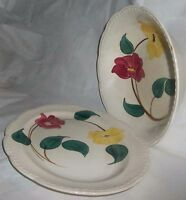 Vintage Stetson Heritage Ware Bowl & Platter Red & Yellow Flower 1950's