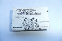 1987 TRANSFORMERS G1 ABOMINUS COMBINER INSTRUCTION BOOKLET/MANUAL