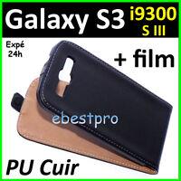Accessoire Housse Coque Etui PU Cuir Type Veritable Samsung Galaxy S3 SIII I9300