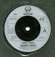 "Graham Bonnet-Night Games/Out On The Water UK 7"" EX Cond"