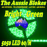5M GREEN 300 LED 5050 STRIP LIGHT WATERPROOF 12V FAST FREIGHT CAR MARINE