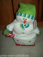 "MARHMALLOW SNOWMAN 12 INCH. BLUE SINGING & DANCING SINGS""A MARSHMALLOW WORLD NWT"