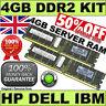 4GB Memory Kit (2x 2GB) PC2-5300P ECC REG PC2-5300P GENUINE HP P/N: 405476-051