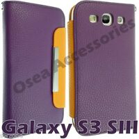 Samsung i9300 Galaxy S3 SIII Leather Case Cover Book Pouch Card Wallet Set Skin