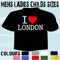 I LOVE HEART LONDON T-SHIRT ALL SIZES & COLOURS