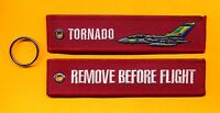 Tornado Remove Before Flight embroidered Key Ring/Tag - New