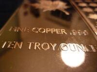 10 oz Unzen 999 Kupferbarren Kupfer Copper Barren Maple Leaf SELTEN & NEU