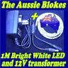 1M WATERPROOF 5050 LED STRIP LIGHTING 240V / 12V KIT 12V CAMPING BBQ CAR MARINE