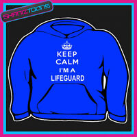 KEEP CALM IM A LIFEGUARD ADULTS MENS LADIES HOODIE HOODY GIFT