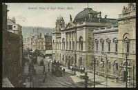 Soms BATH General View of High Street 1906 PPC