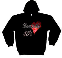 BORN IN THE SIXTIES 60s MUSIC GIFT HEAVY RHINESTUD  HOODY  HOODIES(any size)
