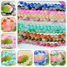 50pcs / 100pcs 8mm Crackle Glass Loose Round Spacer Beads Charms Jewelry bead