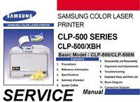 Samsung CLP-500 XBH 500 CLP 500N color laser printer Service Repair Manual PDF