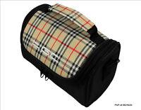 TGC Chinazo Check & Black Travel Bag Case for Binatone S500 Sat Nav Sat Nav GPS