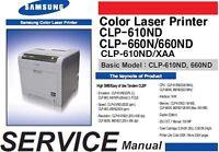Samsung CLP-610ND 660N  660ND 610ND XAA color laser Service Repair Manual PDF