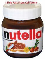 New NUTELLA Ferrero Chocolate Hazelnut Spread Jar Skim Milk & Cocoa 26.5 oz 750g