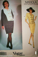 Ms Manola Vogue 1013 Sewing Pattern UNCUT Maternity Dress Size 14-16-18 Easy