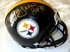JACK LAMBERT SIGNED STEELERS MINI HELMET PHOTO PROOF COA PRIVATE SIGNING