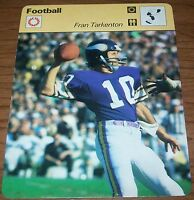 1977 Minnesota Vikings Fran Tarkenton Sportscaster Card