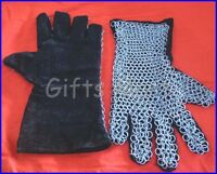 MEDIEVAL CHAINMAIL Gauntlets LEATHER GAUNTLET Costume Cosplay Mail Armour Gloves