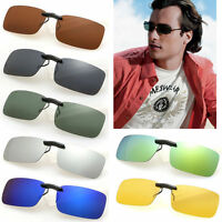 Polarized Clip On Sunglasses Wear Over Glasses Eyeglass UV400 Lens Anti-Glare