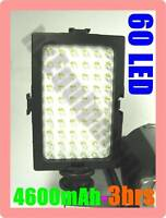 Video Light 60 LED DV Camcorder+NP-F750 Battery Charger