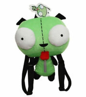 Alien Invader Zim Dog Gir Robot Plush Doll Soft Backpack Zip Pocket W/Straps bag