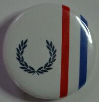 Skinhead Reggae Laurel Wreath Button 25mm Badge Ska Mod Skinheads 2 Tone