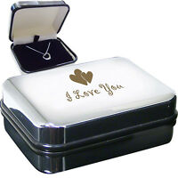 I Love You Heart Necklace Box The Sterling Silver Heart Necklace Comes In A