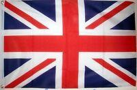 UNION JACK DELUXE NYLON FLAG 5X3 FEET Super hard wearing UNITED KINGDOM BRITAIN